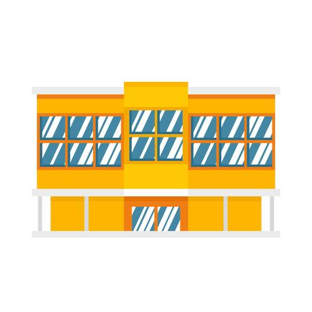 Shopping mall icon, flat style