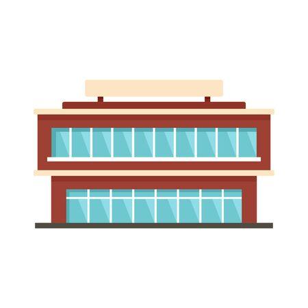 City mall icon, flat style