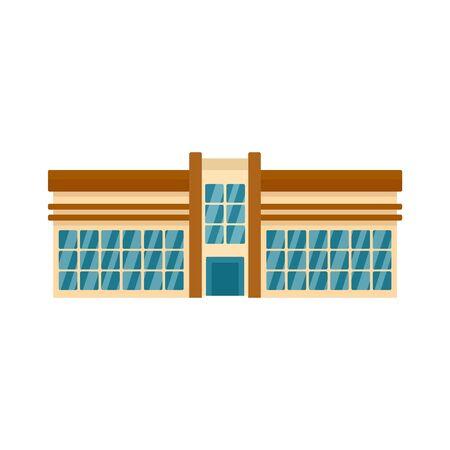 Modern mall icon, flat style Illustration