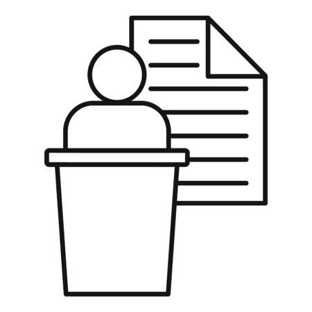 Admin speaker icon, outline style Stok Fotoğraf - 131944848