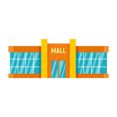 Retail mall icon, flat style Stock Vector - 131944852