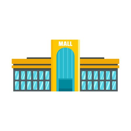 Business mall icon, flat style