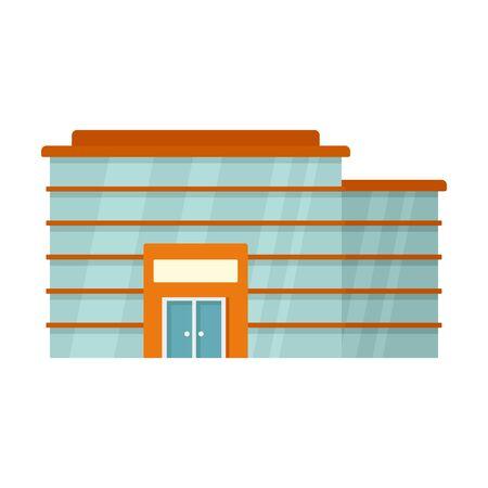 Fashion modern mall icon. Flat illustration of fashion modern mall vector icon for web design Illustration