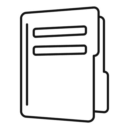 Map folder icon, outline style