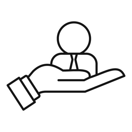 Hand care admin icon, outline style