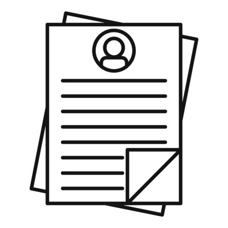 Administrator paper icon, outline style