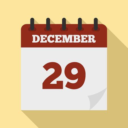 December calendar icon. Flat illustration of december calendar vector icon for web design