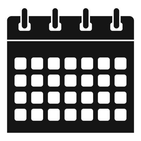 Office calendar icon, simple style