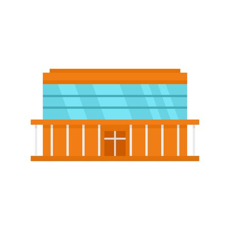 Center mall icon. Flat illustration of center mall vector icon for web design