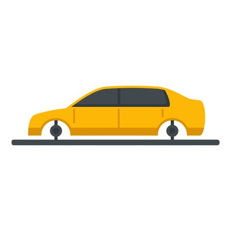 Car assembly icon. Flat illustration of car assembly vector icon for web design