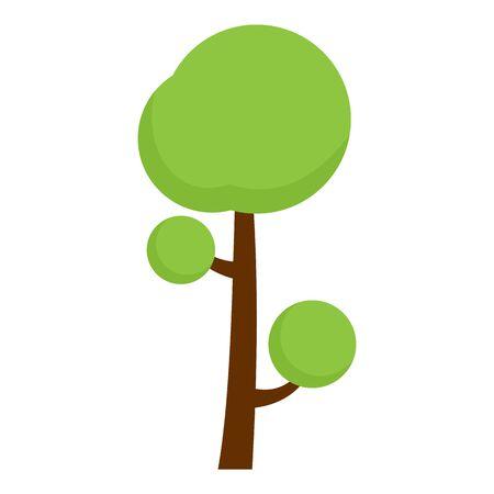 Fruit tree icon. Flat illustration of fruit tree vector icon for web design