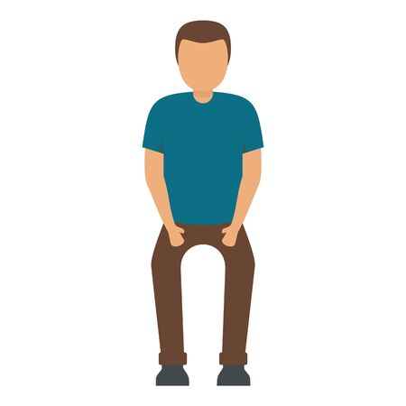 Man want to stay icon. Flat illustration of man want to stay vector icon for web design Иллюстрация