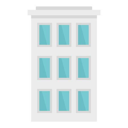 City building icon, flat style