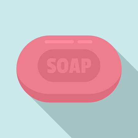 Soap icon. Flat illustration of soap vector icon for web design Zdjęcie Seryjne - 132096118