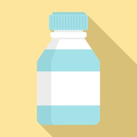 Medical bottle icon, flat style