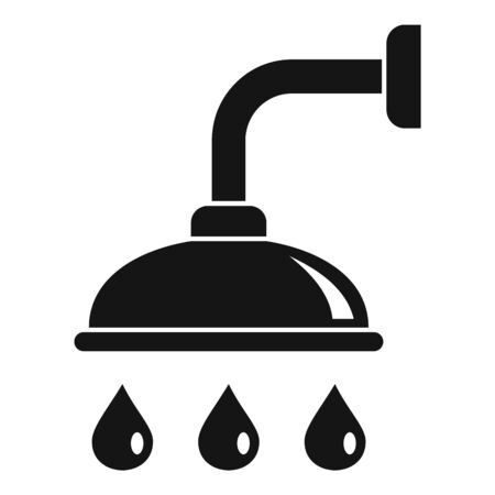 Shower icon, simple style