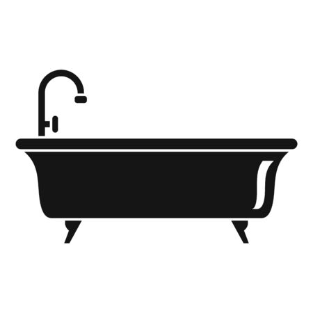Bathtub icon, simple style