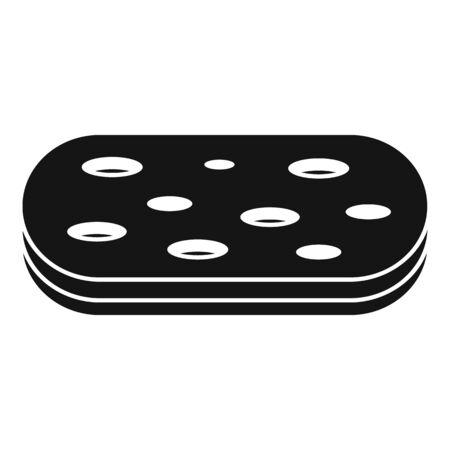 Wash sponge icon, simple style