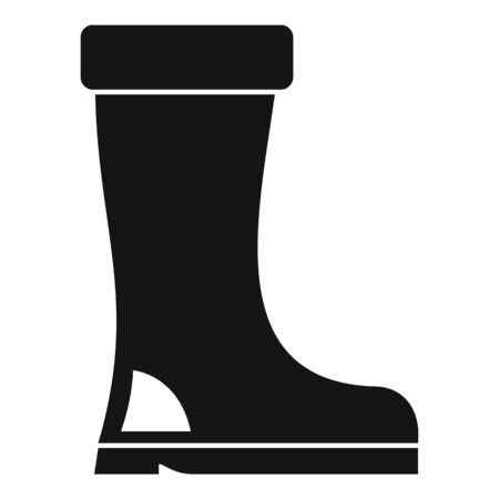 Rubber boot icon. Simple illustration of rubber boot vector icon for web design isolated on white background