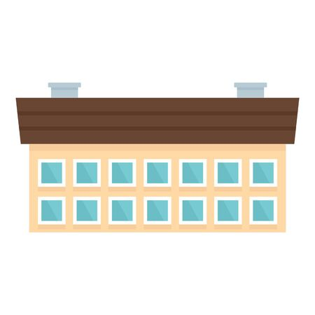 School building icon. Flat illustration of school building vector icon for web design Stock Illustratie