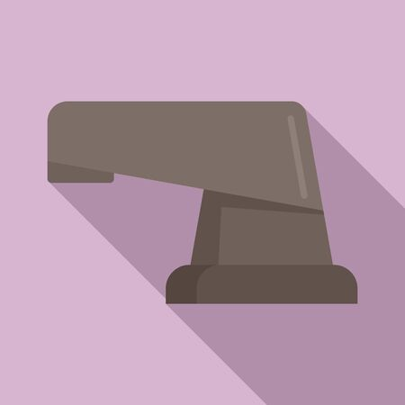 Modern faucet icon, flat style