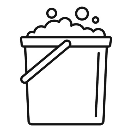 Foam bucket icon, outline style