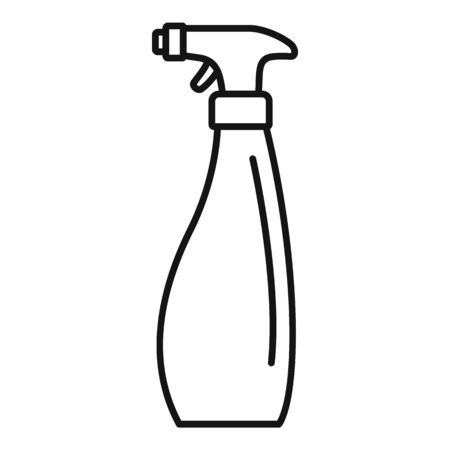 Cleaner spray icon, outline style