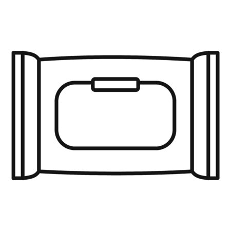 Wet napkins icon, outline style