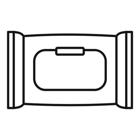 Wet napkins icon, outline style