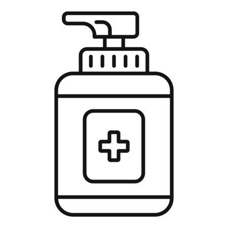Sanitation dispenser icon, outline style