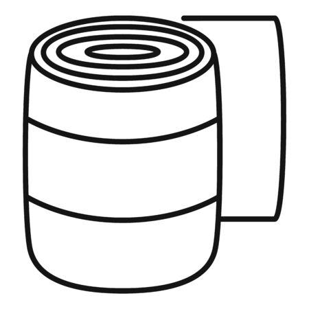 Medical badge icon, outline style Ilustração