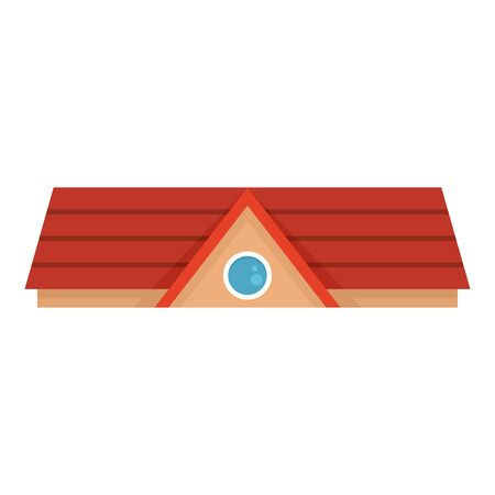 Red house roof icon. Flat illustration of red house roof vector icon for web design Foto de archivo - 132097321