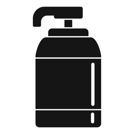 Soap dispenser icon. Simple illustration of soap dispenser vector icon for web design isolated on white background Stockfoto - 132097101