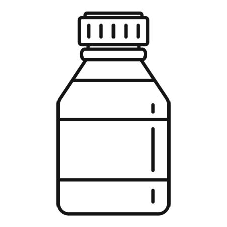 Medical bottle icon, outline style