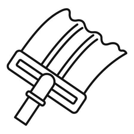 Cleaning window icon, outline style Illustration