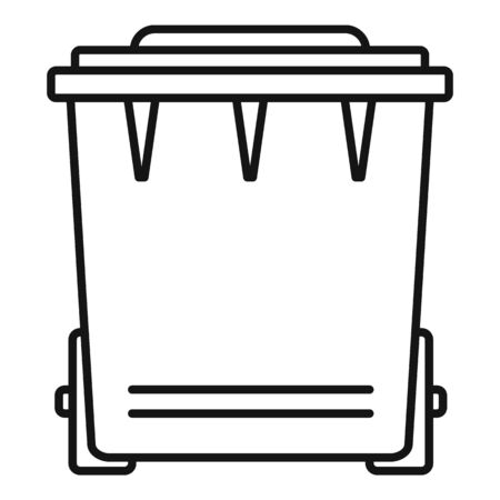 Plastic garbage icon. Outline plastic garbage vector icon for web design isolated on white background