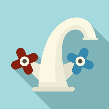 Old faucet icon. Flat illustration of old faucet vector icon for web design