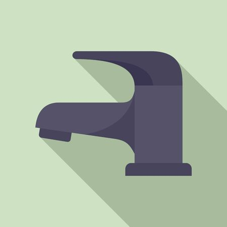 Faucet equipment icon. Flat illustration of faucet equipment vector icon for web design Ilustracja