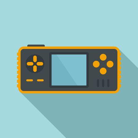 Portable game console icon. Flat illustration of portable game console vector icon for web design Illusztráció