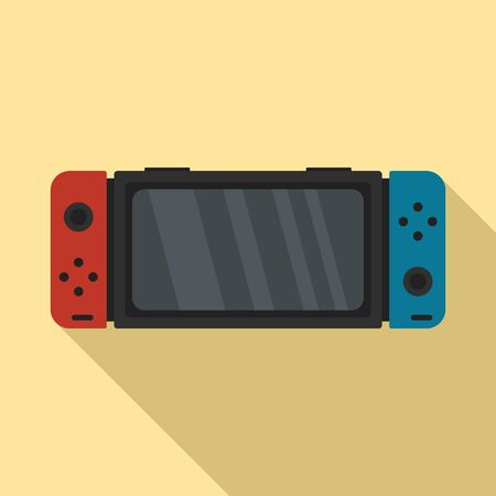 Nintendo switch icon. Flat illustration of nintendo switch vector icon for web design