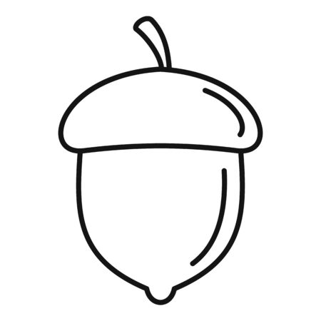 Acorn nut icon. Outline acorn nut vector icon for web design isolated on white background