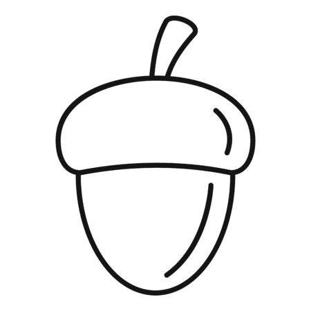 Forest acorn icon. Outline forest acorn vector icon for web design isolated on white background