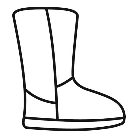 Ugg boot icon. Outline ugg boot vector icon for web design isolated on white background Illustration