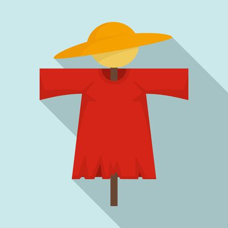 Scarecrow doll icon. Flat illustration of scarecrow doll vector icon for web design