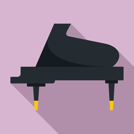Grand piano instrument icon, flat style