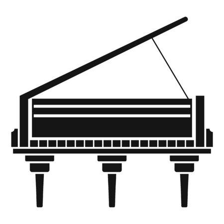Classic grand piano icon, simple style Imagens - 132260544