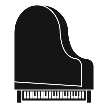 Grand piano top view icon. Simple illustration of grand piano top view vector icon for web design isolated on white background