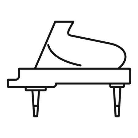 Grand piano instrument icon. Outline grand piano instrument vector icon for web design isolated on white background