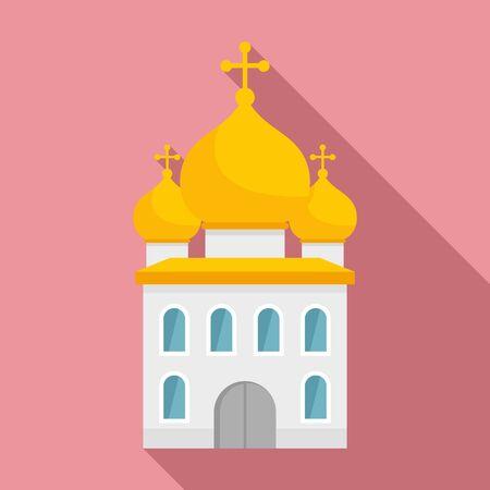 Orthodox church icon, flat style Иллюстрация