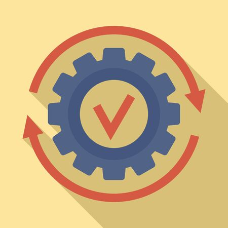 Gear wheel update icon. Flat illustration of gear wheel update vector icon for web design Фото со стока - 132099454